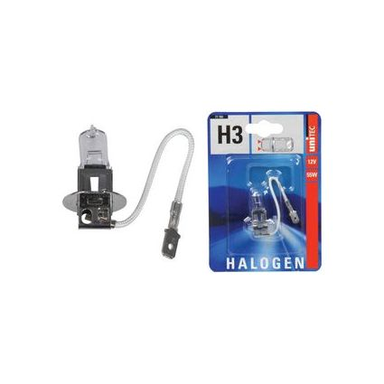 uniTEC KFZ-Lampe H3 für Haupt-Nebelscheinwerfer, 55 Watt