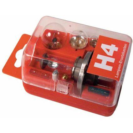 uniTEC KFZ-Lampenersatzkasten H4, 8-teilig