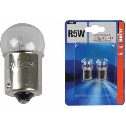 uniTEC KFZ-Kugellampe, 12 Volt, 5 Watt, Inhalt: 2 Stück
