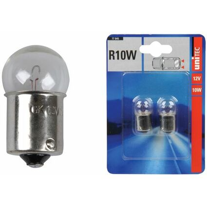uniTEC KFZ-Kugellampe, 12 Volt, 10 Watt, Inhalt: 2 Stück