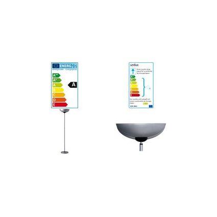 unilux LED Energiespar-Stehleuchte NEXUS, Farbe: metallgrau