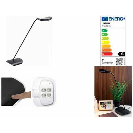 unilux LED Energiespar-Tischleuchte FOLIA, grau/schwarz