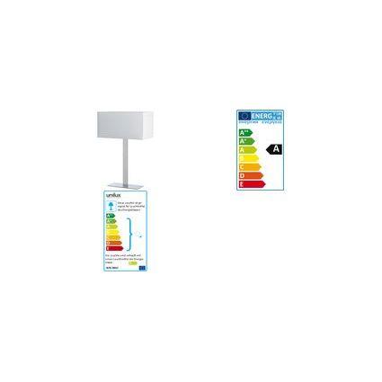 unilux Energiespar-Tischleuchte ILY, silber/weiß
