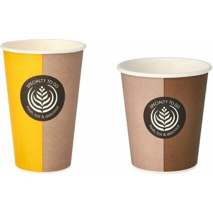 """PAPSTAR Hartpapier-Kaffeebecher """"Coffee To Go"""", 0,2 l"""