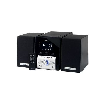 AEG Musik-Kompaktanlage MC 4443, schwarz/silber