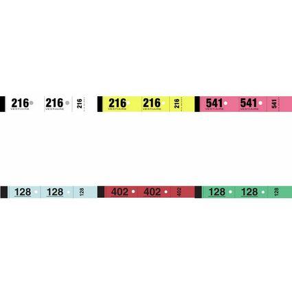 ELVE Bloc vestiaire, 50 feuillets de 3 coupons, jaune
