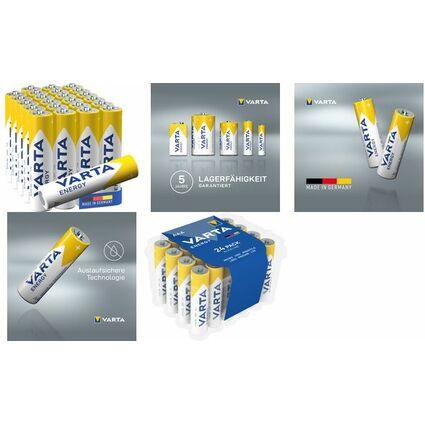 "VARTA Alkaline Batterie ""Energy"", Micro (AAA/LR3)"