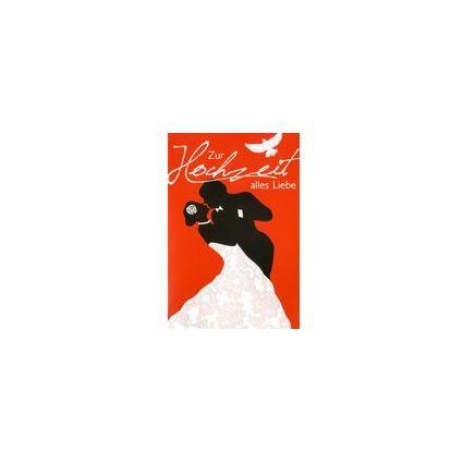HORN Hochzeitskarte - Hüte mit Herz - inkl. Umschlag