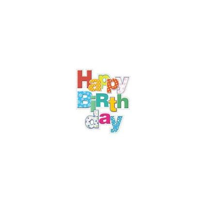 HORN Geburtstagskarte - Foliengeprägte Textgestaltung -