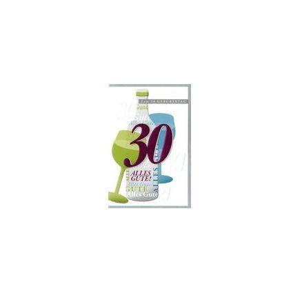 HORN Geburtstagskarte - Weinmotiv - 30. Geburtstag
