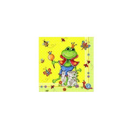 "PAPSTAR Motivservietten ""Prince Frog"", 330 x 330 mm"