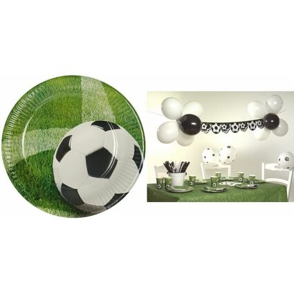 """PAPSTAR Pappteller """"Football"""", Durchmesser: 230 mm"""