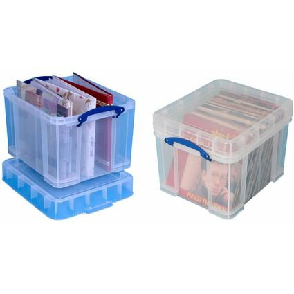 Really Useful Box Aufbewahrungsbox 35 Liter XL, transparent