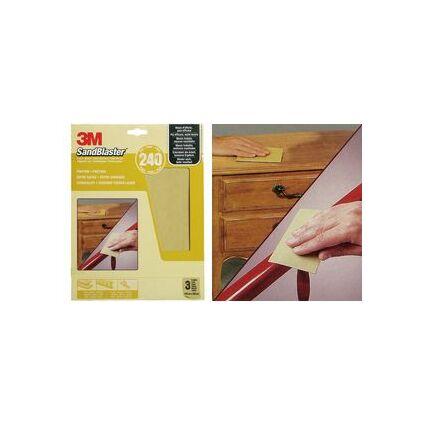3M SandBlaster Hochleistungsschleifpapier, fein/P240