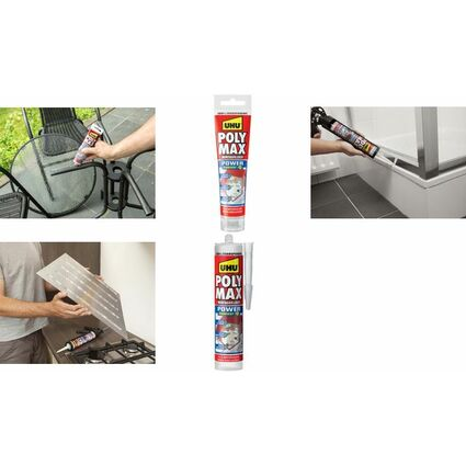 UHU Montagekleber POLYMAX EXPRESS, glasklar, 115 g Tube