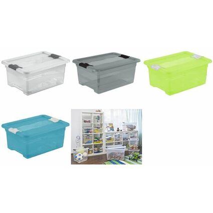 """keeeper Aufbewahrungsbox """"cornelia"""", 12 Liter, transparent"""