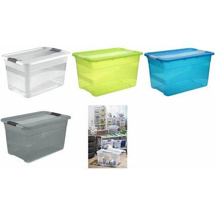 """keeeper Aufbewahrungsbox """"cornelia"""", 52 Liter, transparent"""
