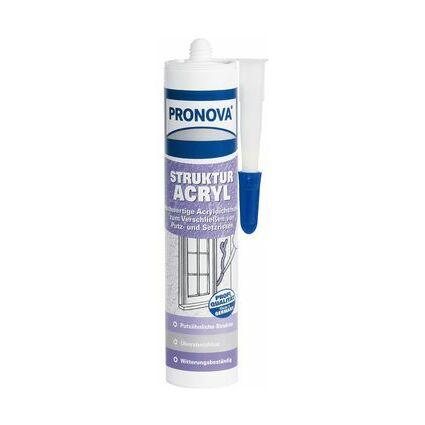 PRONOVA Strukturacryl, weiß, 300 ml Kartusche