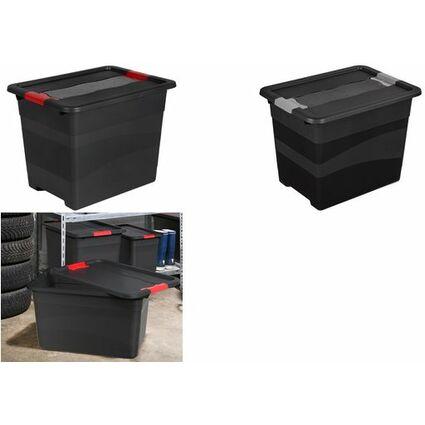 """keeeper Aufbewahrungsbox """"eckhart"""", 24 Liter, graphite/rot"""