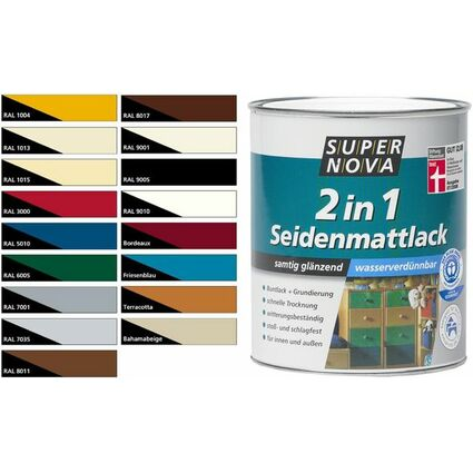SUPER NOVA Seidenmattlack 2in1, silbergrau, 375 ml