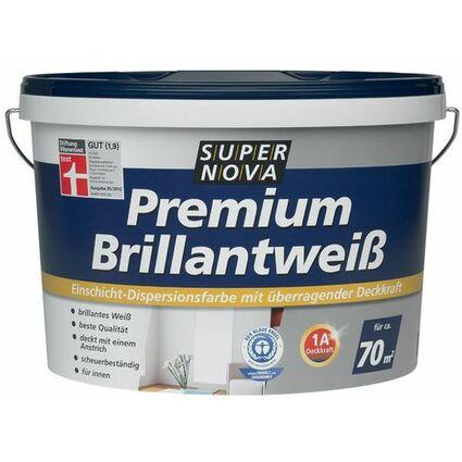"""SUPER NOVA Wandfarbe """"Premium Brillantweiß"""", weiß, 2,5 Liter"""