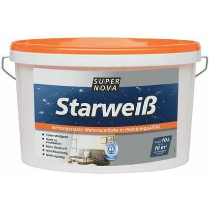 "SUPER NOVA Wandfarbe ""Starweiß"", weiß, 2,5 Liter"