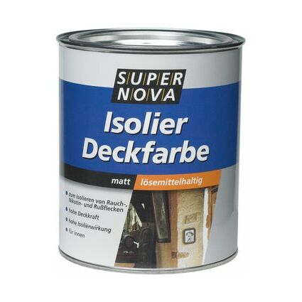 SUPER NOVA Isolier-Deckfarbe, weiß, 750 ml