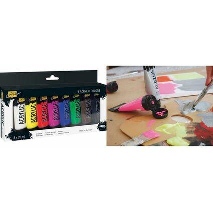 KREUL Acrylfarbe SOLO Goya Acrylic, 20 ml, 8er-Set