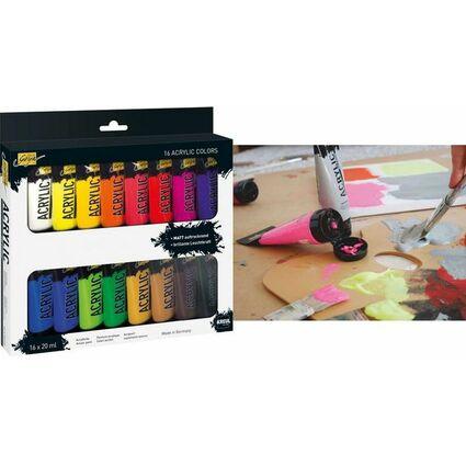 KREUL Acrylfarbe SOLO Goya Acrylic, 20 ml, 16er-Set