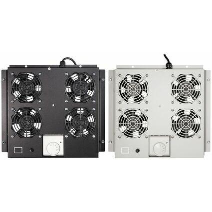 LogiLink Dachlüftereinheit, 4 Lüfter, schwarz (RAL9005)