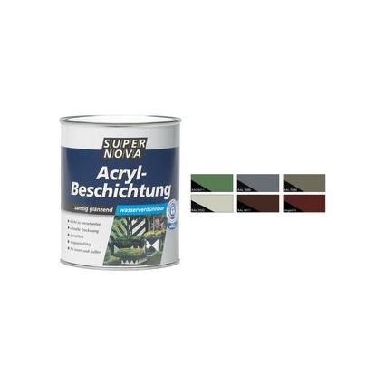 SUPER NOVA Acryl-Beschichtung, kieselgrau, 750 ml