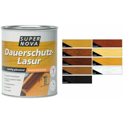 SUPER NOVA Dauerschutz-Lasur, palisander, 2,5 Liter