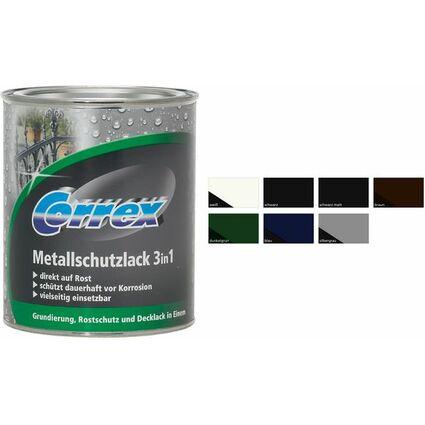 Correx Metallschutzlack 3in1, schwarz, 250 ml