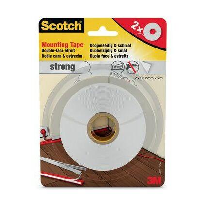 3M Scotch doppelseitiges Montageklebeband, 12 mm x 5 m