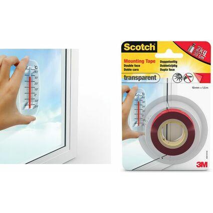 3M Scotch doppelseitiges Montageklebeband, 19 mm x 5 m