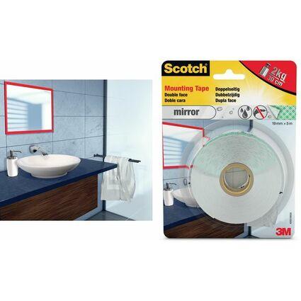 3M Scotch doppelseitiges Spiegel-Montageklebeband, 19mmx1,5m