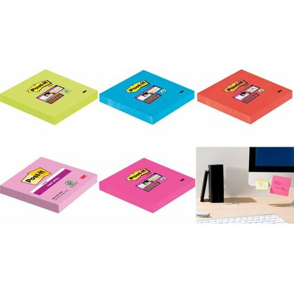Post-it Haftnotizen Super Sticky Notes, 76 x 76 mm, ultrapin