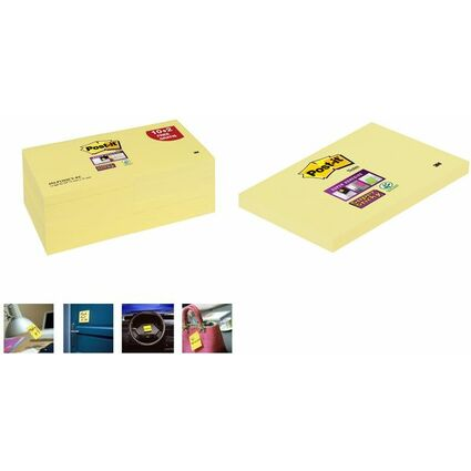 Post-it Haftnotizen Super Sticky Notes, 127 x 76 mm