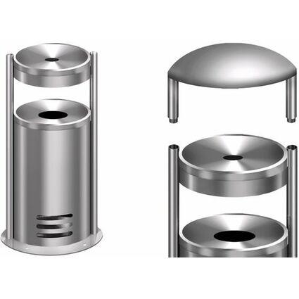 kerkmann Sicherheits-Standascher tec-art, rund, silber