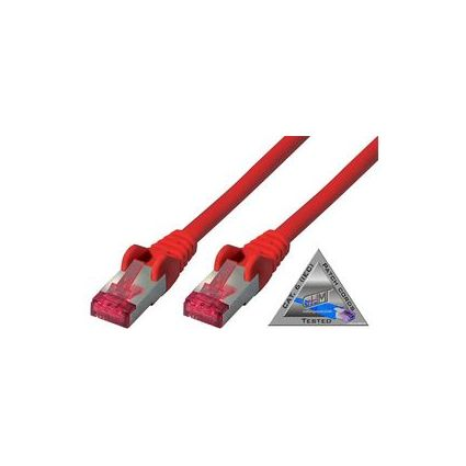 shiverpeaks BASIC-S Patchkabel, Kat. 6A, S/FTP, rot, 10,0 m