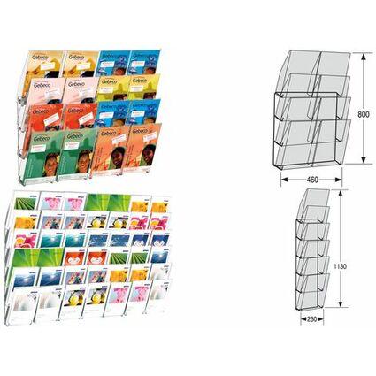 kerkmann Wand-Prospekthalter concept, DIN A4 hoch, 6 Fächer