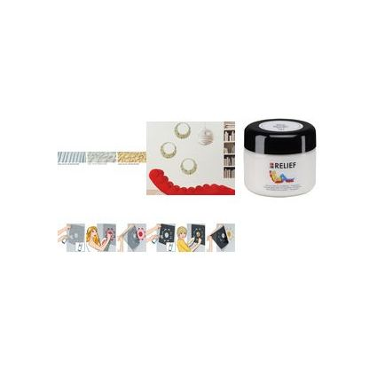 Marabu 3D-Acrylgel RELIEF Colour your dreams, glitter-silber