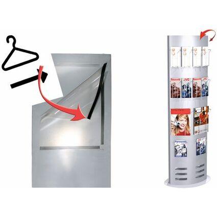 kerkmann Informations-Säule tec-art, breit, alusilber