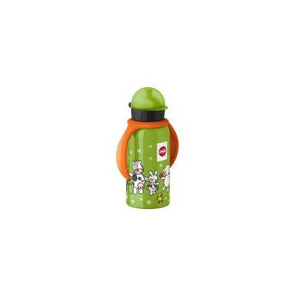 emsa Trinkflasche mit Ärmchen, 0,4 Liter, grün
