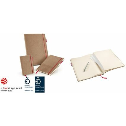 "transotype Notizbuch ""senseBook RED RUBBER"", Medium, liniert"