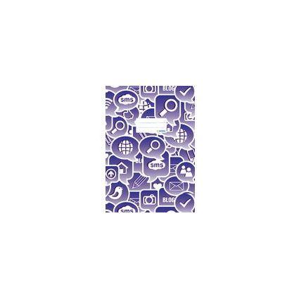 "HERMA Heftschoner ""Social Icons"", DIN A4, aus PP, violett"