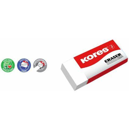 """Kores Kunststoff-Radierer """"KE20"""", (B)60 x (T)21 x (H)10 mm"""