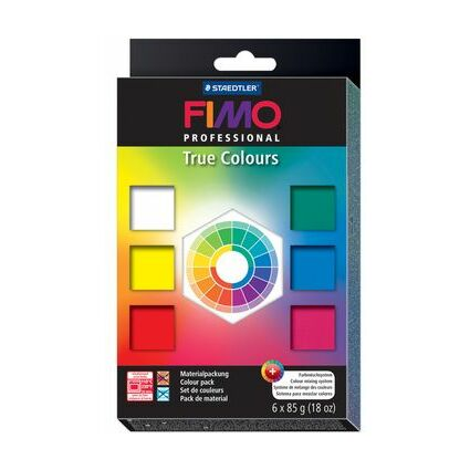 "FIMO PROFESSIONAL Modelliermasse-Set ""True colours"", 6er Set"