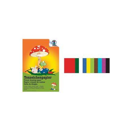 URSUS Tonpapierblock, DIN A4, 130 g/qm, 20 Blatt