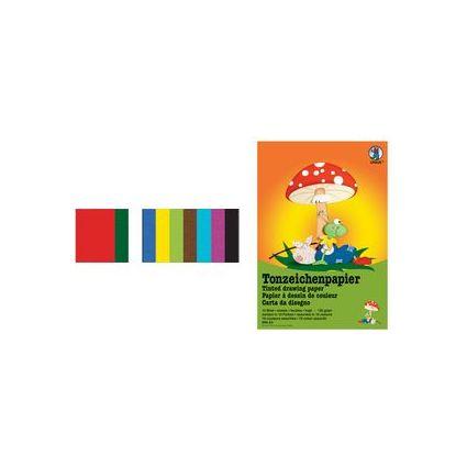 URSUS Tonpapierblock, DIN A3, 130 g/qm, 10 Blatt